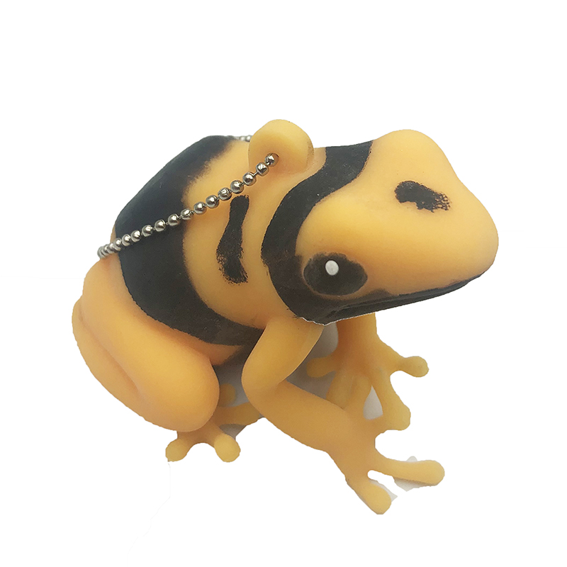 Cartoon Frog Soft Toy Squeeze Prank Joke Toys Antistress Squeeze Squishy Animal Toys Keychain Ring Strap Stress Relief Toys