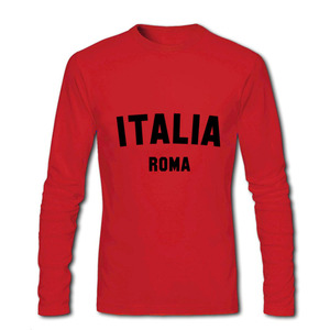 Image 5 - T חולצות גברים ITALIA רומא 2020 חדש הגעה סתיו חורף בגדי יוקרה ארוך שרוול זכר חולצת טי וספה ברצלונה כדורגל חולצה
