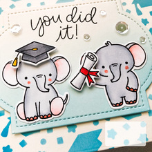 Rubber Stamps and Metal Cutting Dies Graduated Baby Elephant for Scrapbooking Craft Stencil Card Making Album Sheet Decoration et toi methode de francais niveau 1