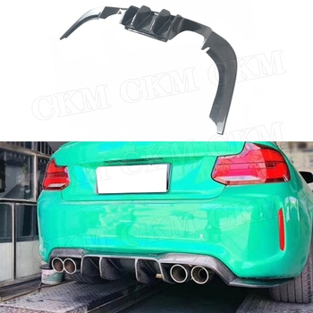 Carbon Fiber / FRP Rear diffuser Bumper Lip Aprons for BMW 2 Series F87 M2 Coupe 2 Door 2016 2017 V style Rear Bumper Hugger
