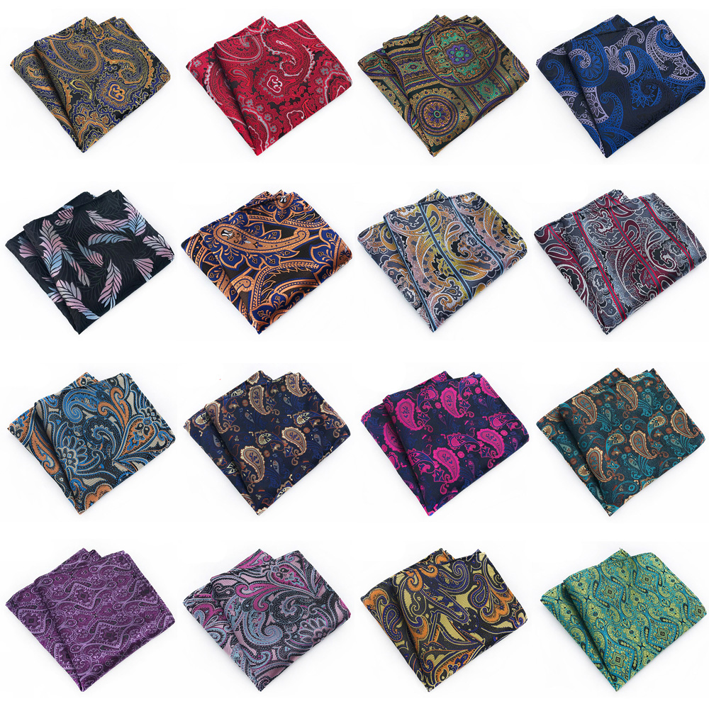 Mens Handkerchief Paisley Floral Printed Hanky Wedding High Grade Pocket Square