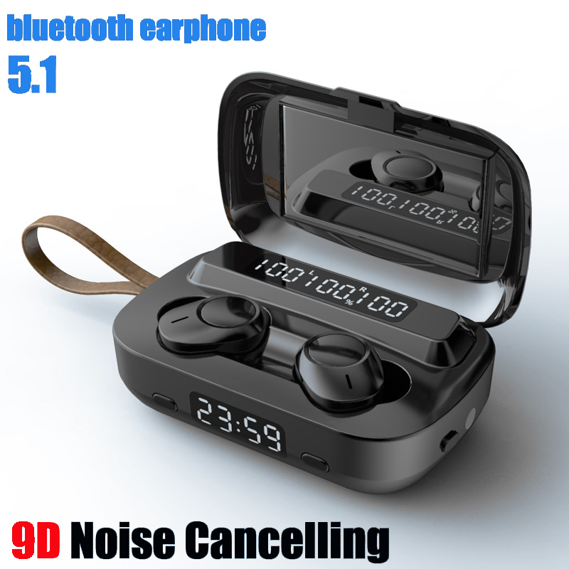 9D Noise Cancelling Bluetooth Earphone Sports Waterproof Wireless Headphones TWS Bluetooth Headset HD Call Bluetooth 5 1 Earbuds