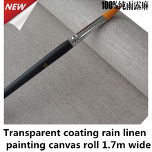 420gsm medium texture transparent coating primed linen canvas roll 1.70m wide size
