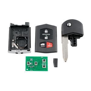 Image 2 - KPU41788 3/4 przyciski pilot zdalnego sterowania samochodu dla Mazda 6 Sedan RX 8 2005 2006 2007 2008 etui z klapką inteligentny klucz samochodowy 313.8MHz 4D63 układu