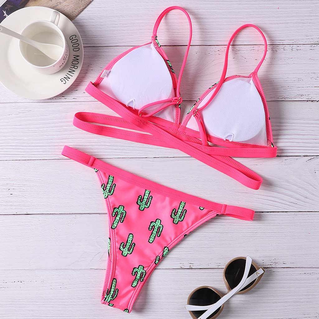 30 ^ 2020 最新の女性の水着ビキニセット女性のセクシーなブラジルグラデーションカラービキニ水着ビーチウェア