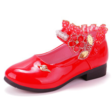 Kids Patent Leather Shoes for Girl Flats Princess Cute Fashion Party Dance