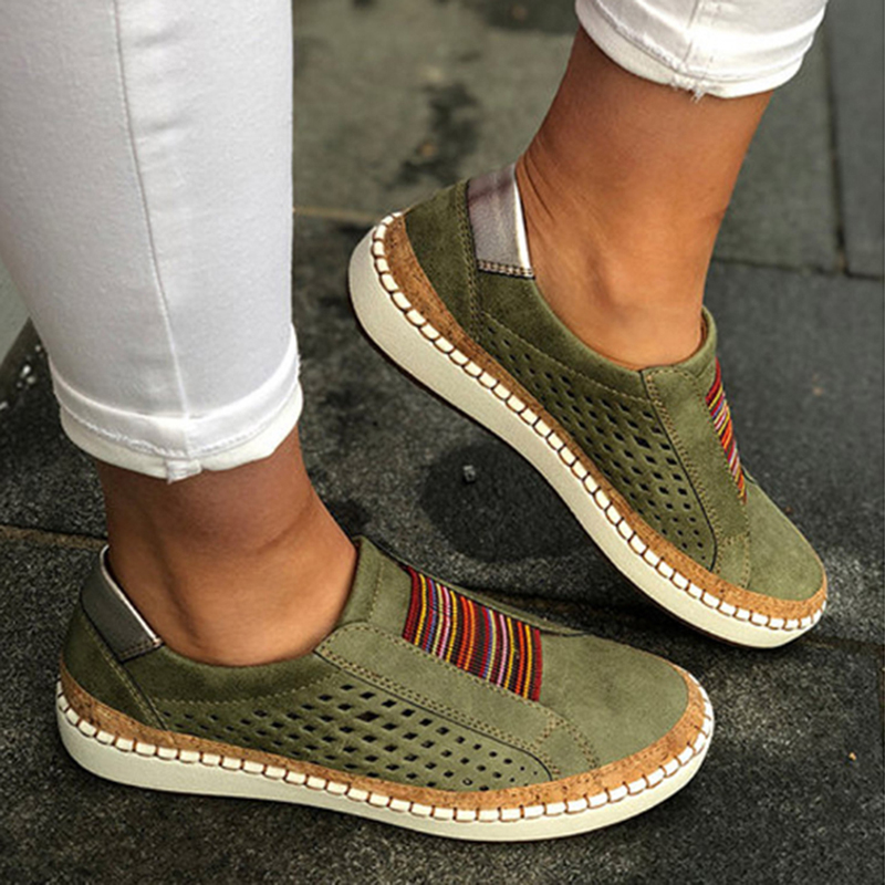2019 New Platform Sneakers Women Shoes Casual Fashion Flat Shoes Hollow Breathable Spring Autumn Sneakers Women Vulcanize Shoes