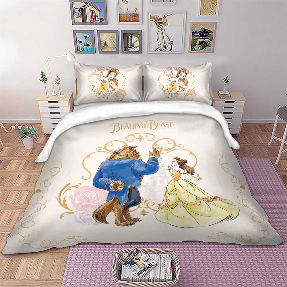 Beauty And The Beast Bedding Set Disney Duvet Cover Pillowcases Kids Bed Twin Full Queen King Size Dropshipping Sets Aliexpress
