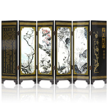 Mini Folding Screen  Chinese Arts Craft Lacquer Wood Made Table Screens Home Decoration Gift 21 Patterns Wedding