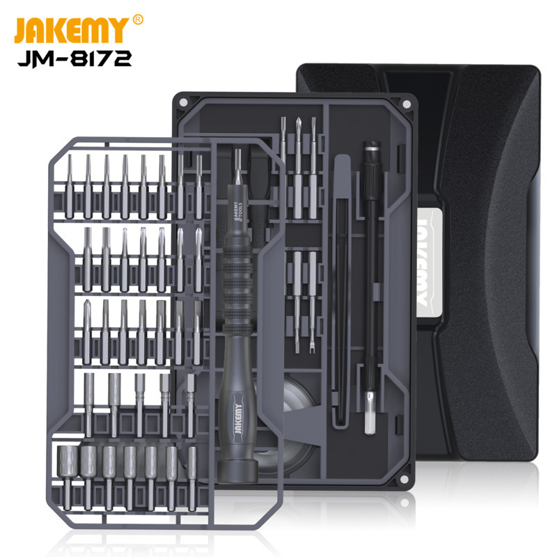 JM-8172 Multifunctional Scredriver Repair Tool Set With S2 Magnetic Driver Bits For Home DIY Improvement