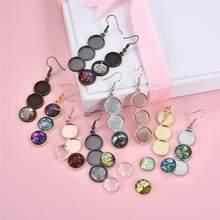 10 sztuk/zestaw kolczyki DIY baza Handmade Dangle kolczyki szklane kaboszony na akcesoria do wyrobu biżuterii znalezienie