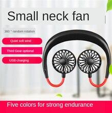 Mini Fan Light 360 Degree USB Rechargeable Neck band Fan For Outdoor Office Sport Hand Free Neck Double Fans 3 Speed Adjustable