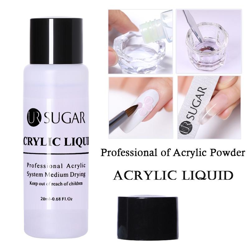 UR SUGAR Acrylic Liquid Acrylic Powder Monomer Crystal Acrylic Brush Nail Art Builder Cup For Manicure Nail Polymer Tools 20ML