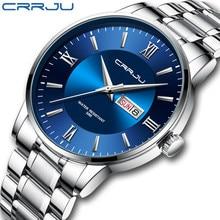 Relógios para homens warterproof esportes dos homens relógio crrju marca superior relógio de luxo masculino negócios quartzo relógio de pulso relogio masculino