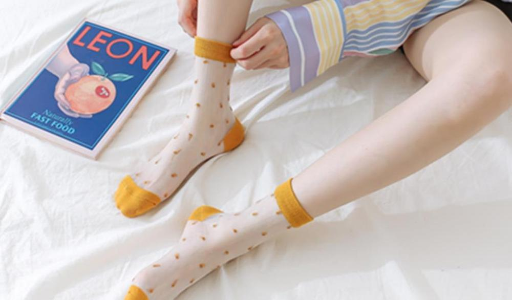 Slim And Transparent Glass Stockings For Japanese And Korean Ladies A9