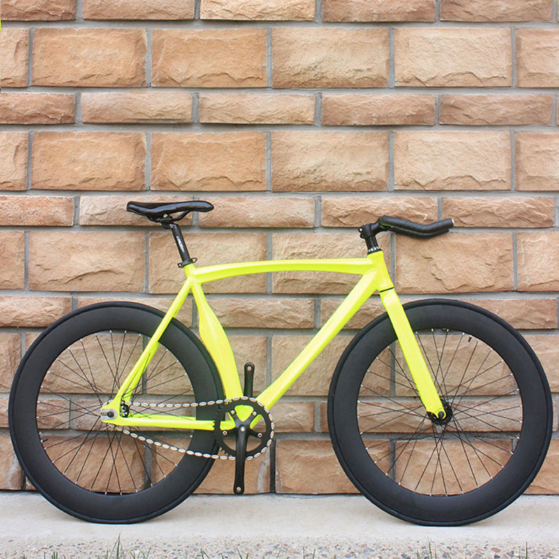 Bicycle Fixed Gear Bike Fat Bike Aluminum Alloy With Eye-catching Multi-color DIY Adult Male And Female Students