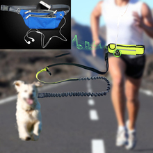 Pet Dog Elastic Belt Running Leash Set Hands Free Leashes Collar Pets Accessories Puppy Harness For Sports