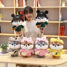 30cm dos desenhos animados adorável shiba inu cão cosplay vestir-se brinquedos de pelúcia pelúcia animais bonitos boneca travesseiro macio para crianças meninas presente de aniversário
