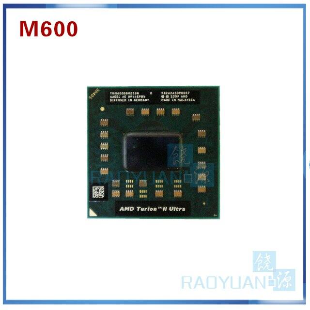 AMD Turion II Ultra Dual Core Móvel M600 TMM600DBO23GQ 2.4G 2M cpu Soquete do processador S1 latop