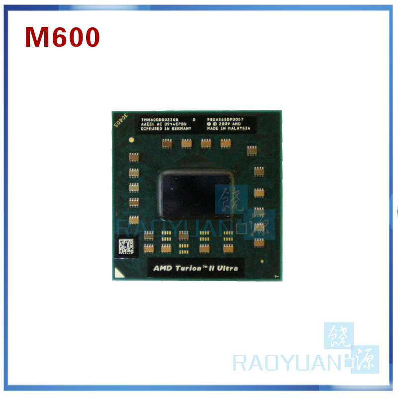AMD Turion II Ultra Dual Core Mobile M600 TMM600DBO23GQ 2.4G 2M cpu latop processor Socket S1-in CPUs from Computer & Office on