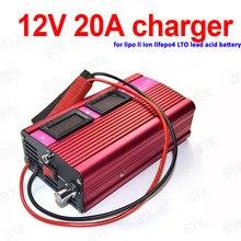 Chargeur 12V 20A chargeur lithium 12.6v 20A 3S li-ion 4S 14.6V 20A lifepo4 chargeur de batterie chargeur au plomb