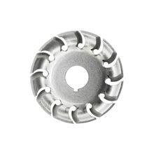 Amoladora angular eléctrica, rueda de hoja moldeadora, tallado de madera, herramienta de carpintería de fresado de corte de disco de 12 dientes