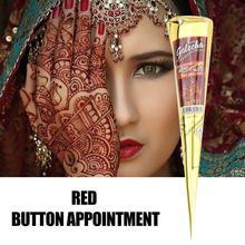 Dark Red Tattoo Salbe Indische Henna Wasserdichte Körper Kunst Kunst Paste Malen Creme Körper Temporäre Henna Tattoo X9B0