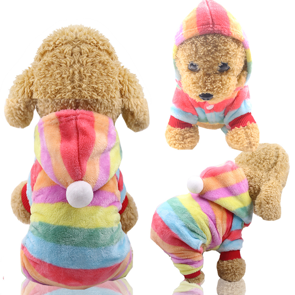 Dog Clothes Pajamas Jumpsuit Winter Pet Clothes Puppy Hoodies Fleece legs Warm Dog Clothing Outfit Small Dog Costume Apparel 13