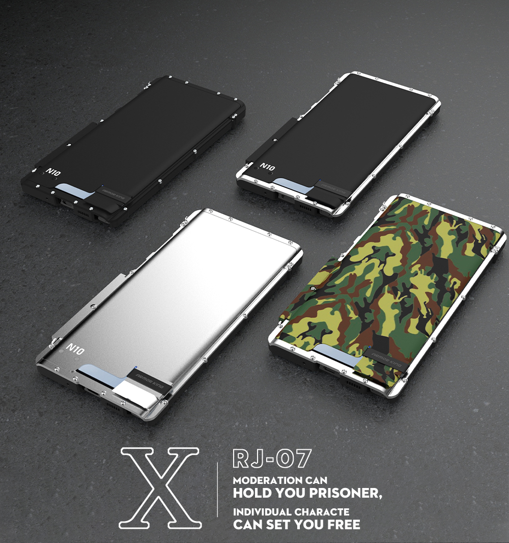 Sports de plein air en métal Flip étui pour samsung Galaxy Note 10 10 + Plus 5G béquille couverture armure roi coquille dissipation thermique militaire