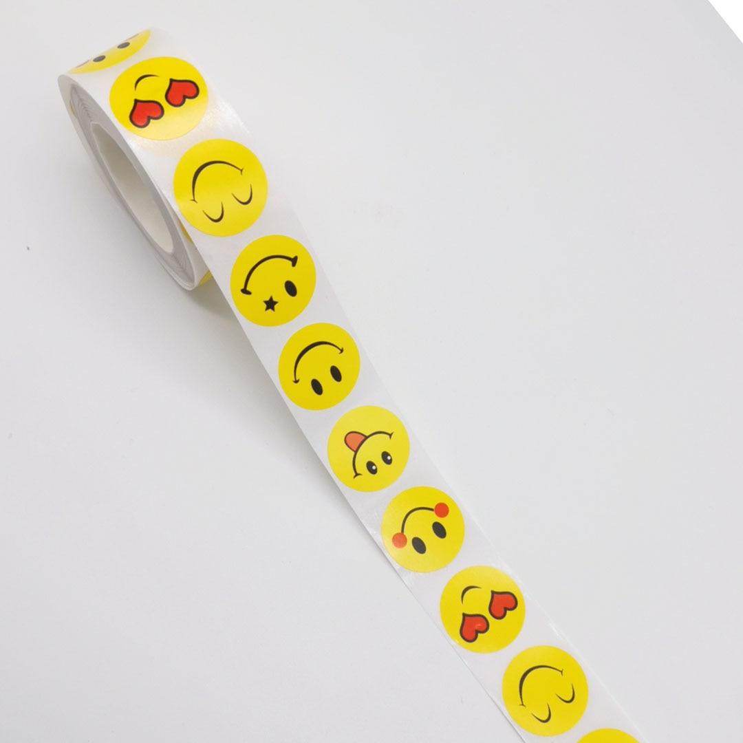 500pcs 1inch Smiley Face Sticker Yellow  Smile Sticker Teacher Reward Sticker For Kids Boy Girls Toys