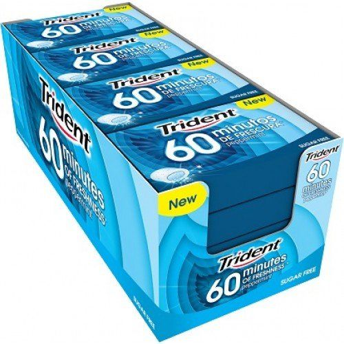 Trident Peppermint Sugarfree Chewing Gum 20 Gr. - [Pack 16]