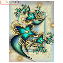 LUOVIZEM Diy diamond painting flower cross stitch crafts embroidery omnidirectional sales home decoration