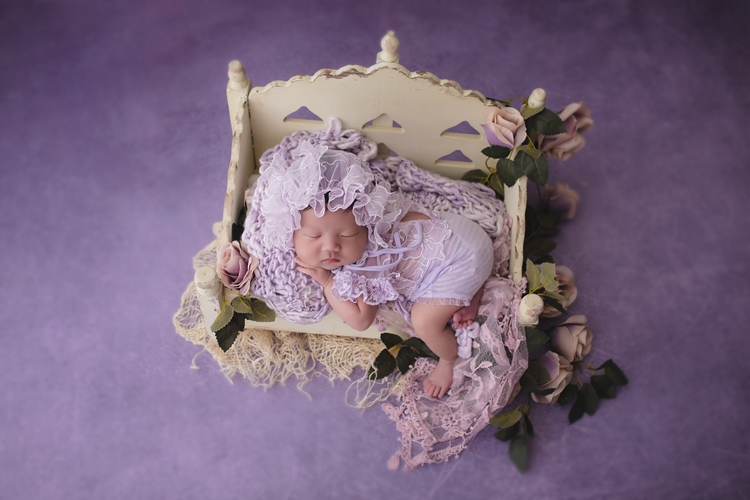 Newborn Baby Crib European-style Baby Crib Photography Prop Infant Shoot Bed Mysterious Theme Shooting Infant Photography Prop