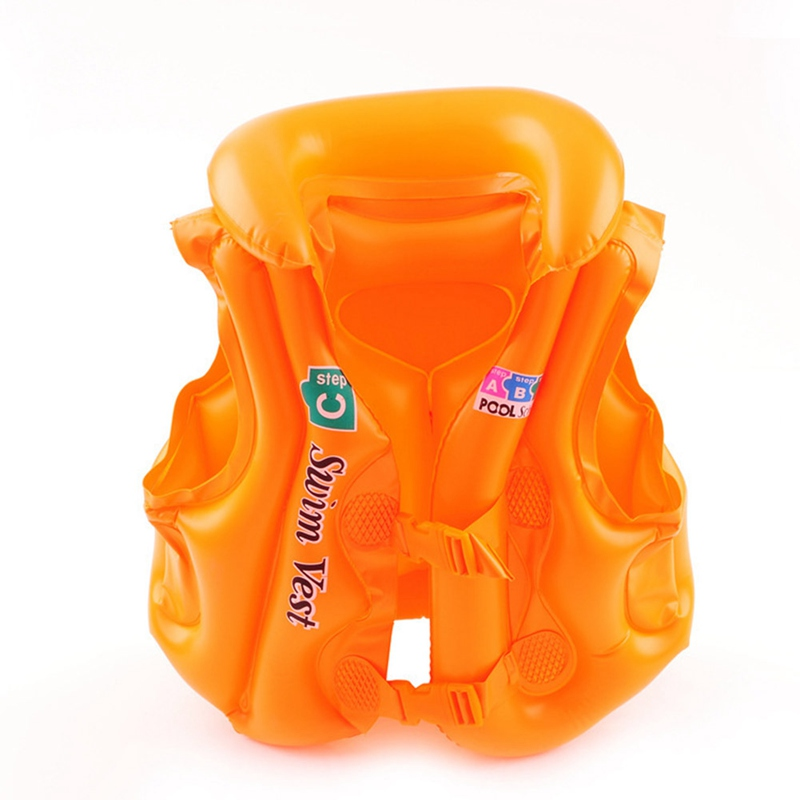 Summer Kids Inflatable Vest PVC Children Swimming Wear Baby Toddler Safety Swimming Tool Accessories Fits For 3-15 Years Old