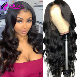Mscoco Body Wave Wig 6x6 Lace Closure Wig Remy Brazilian Lace Front Human Hair Wigs 180 Density Pre Plucked With Baby Hair(China)