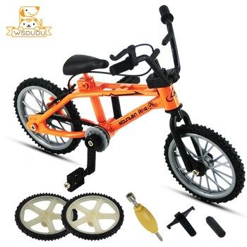 Mini modelo de bicicleta con dedos, figuras de acción de juego de carreras de montaña, juguetes de aleación novedosos para niños, colección de regalos decorativos