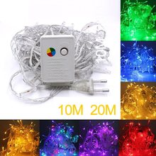 2/5/10M Koperdraad LED String lights nachtlampje Vakantie verlichting Voor Garland Fairy Kerstboom wedding Party Decoratie(China)