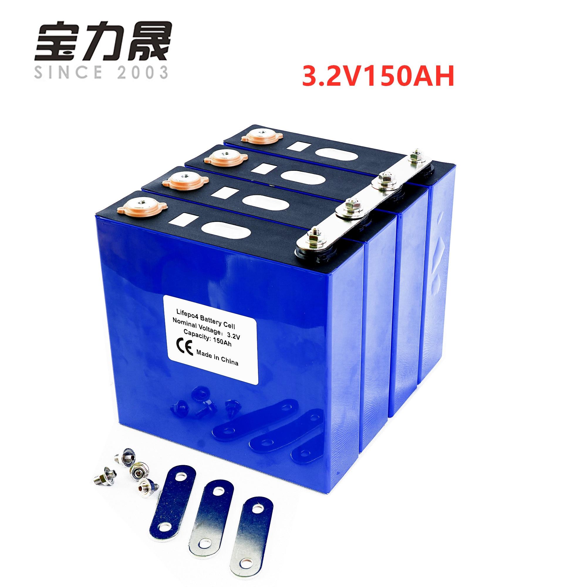 4 pièces 3.2V 150Ah Lithium fer Phosphate cellule lifepo4 Cycle de batterie 4000 fois 3C solaire 12V 150Ah cellules pas 120Ah EU US sans taxe