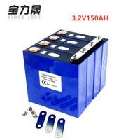 4PCS 3.2V 150Ah Lithium Iron Phosphate Cell lifepo4 battery Cycle 4000 Times 3C Solar 12V 150Ah cells not 120Ah EU US TAX FREE