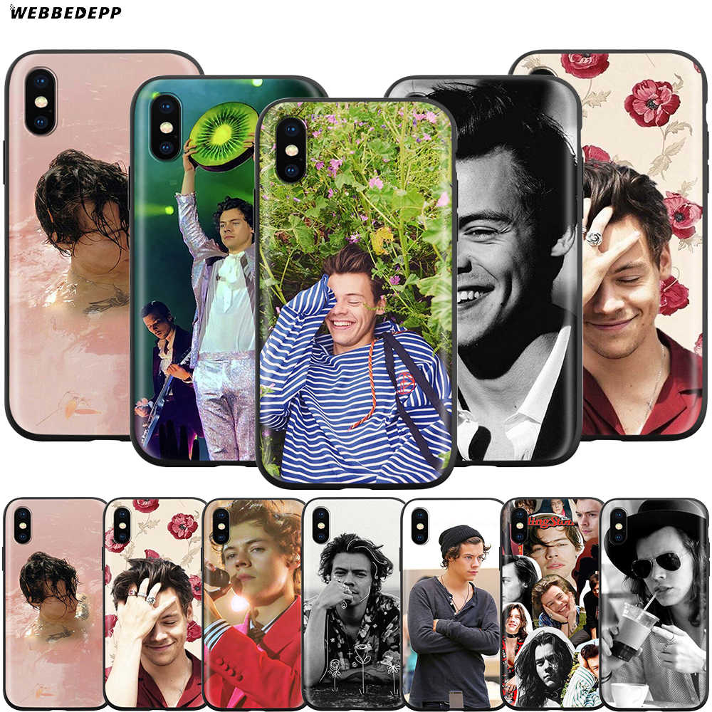 Webbedepp Harry style śliczne etui na Apple iPhone 11 Pro XS Max XR X 8 7 6 6S Plus 5 5S SE