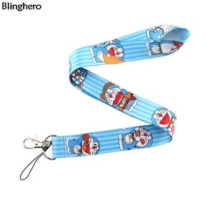 Blinghero Cartoon Robot Cat Lanyard Kawii Cat Phone Holder Neck Straps With Student Card Hang Ropes for Kids BH0224