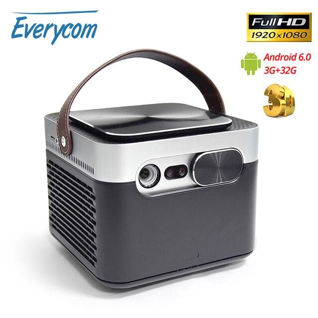 Projektor Everycom G7 DLP 1080P Android 6.0 Wifi Bluetooth aktywna migawka 3D 3GB DDR4 32GB kino domowe przenośny Beamer