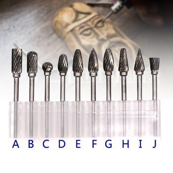 Rotary Grinder Burr Bits Tungsten Carbide Burr Radius End Single/Double Cut Rotary Burr File J8 certain characterizations of tungsten ditelluride single crystals