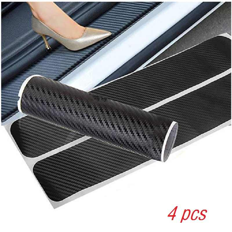 Cars Sticker Anti-Kick Scratch Auto Accessories Car-Styling Car Decoration /×4PCS Muchkey Universal Car Door Plate Door Sill Protector 4D Carbon Fiber Vinyl Reflective Decal Sticker Custom