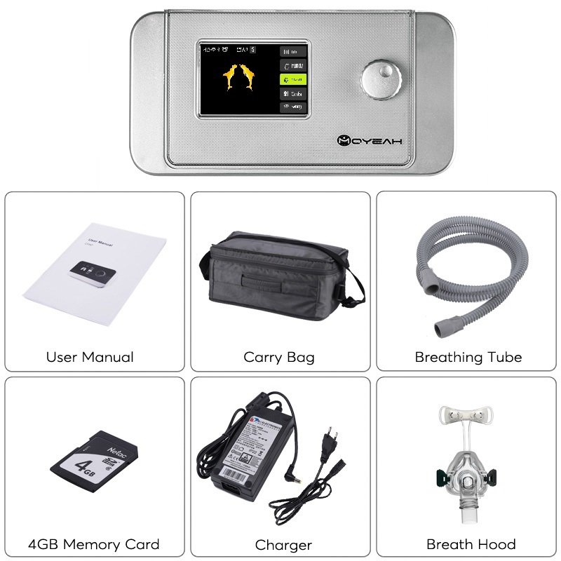 MOYEAH Auto Bi-level BiPAP BPAP Machine With Wifi And Bluetooth For Patient's OSA Copd Therapy Device Ventilator With Humidifer
