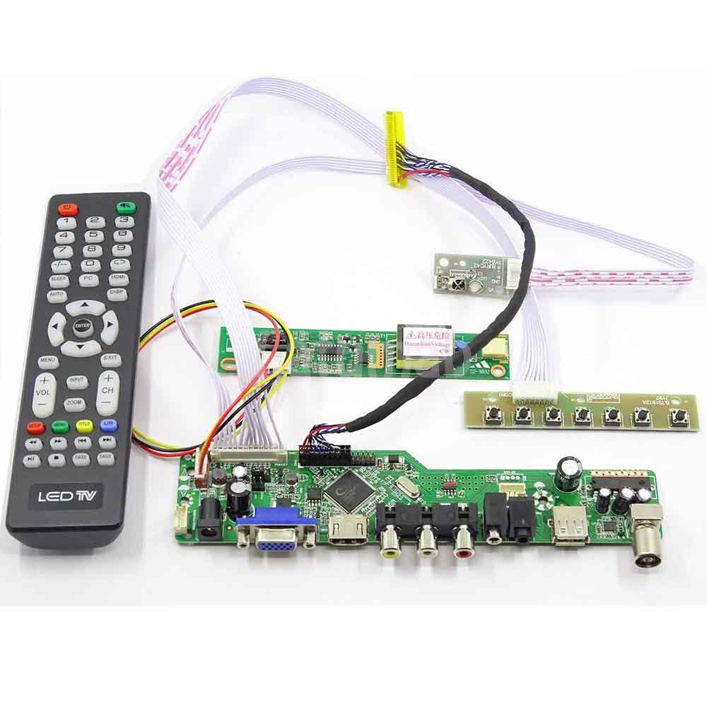Latumab New Kit For LTN154X3-L06 TV+HDMI+VGA+USB LCD LED Screen Controller Driver Board