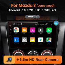 Автомагнитола AWESAFE PX9 для Mazda3, Mazda 3 2004-2009, мультимедийный видеоплеер с GPS-навигацией, 2 din, DVD, Android 10