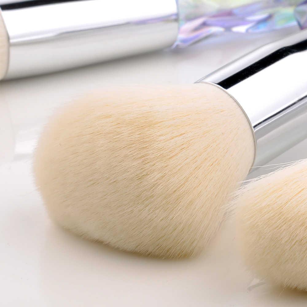 FLD 5 sztuk styl kryształowy zestaw pędzli do makijażu Powder Foundation Eye pędzel do różu kosmetyczny profesjonalny zestaw pędzli do makijażu narzędzia
