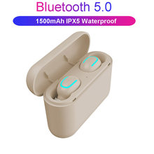 Bluetooth 5.0 earphones TWS true wireless stereo 3D headphone sports IPX5 waterproof headset with dual microphone(China)