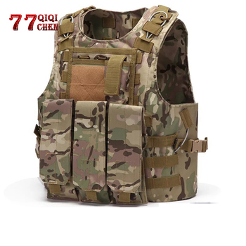 Men Tactical Unloading Airsoft Hunting Molle Vest Multifunction Military Soldier Combat Vest Army Camo Carrier Shooting Vests